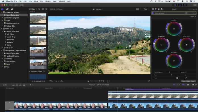 Final Cut Pro X- Touch Bar apps for MacBook Pro