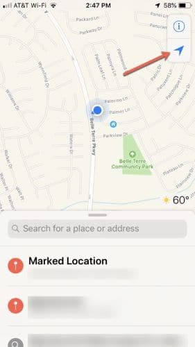 Add your current location to a contact- Save locations with Maps