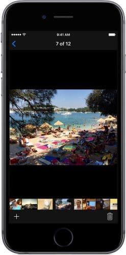 Delete certain photos from the memories slideshow