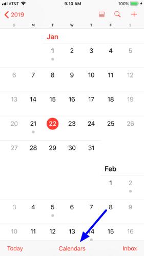 Share an iCloud calendar