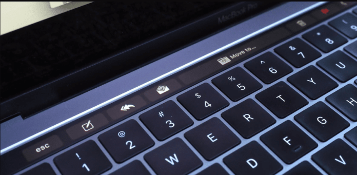 MacBook Pro Touch Bar Mail