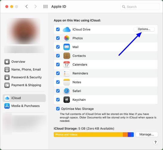 Manage iCloud sync permissions on Mac