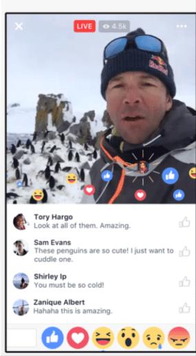 live video Facebook