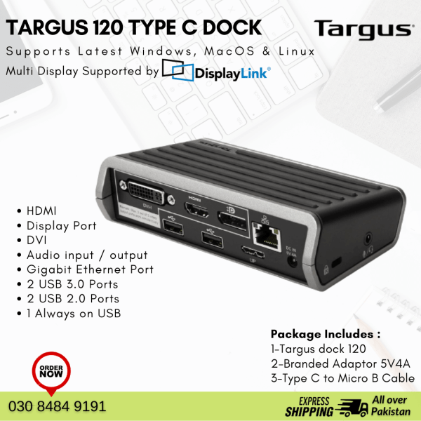 Targus 120 Type C Dock