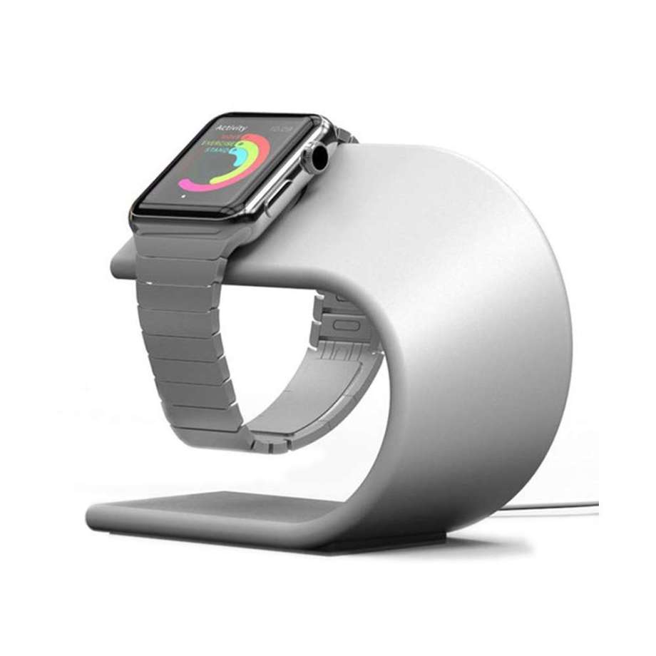 watch stand silver