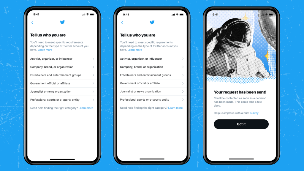 Twitter Officially Rolling Out Blue Badge Verification Process