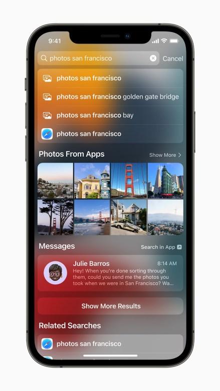 Apple iPhone12Pro iOS15 Spotlight Photo 060721