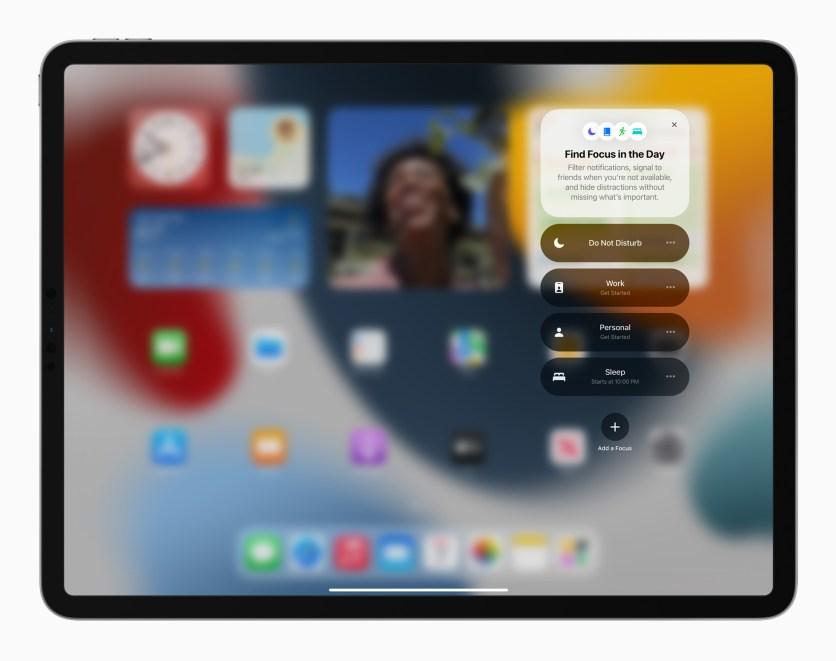 Apple iPadPro iPadOS15 springboard focus 060721