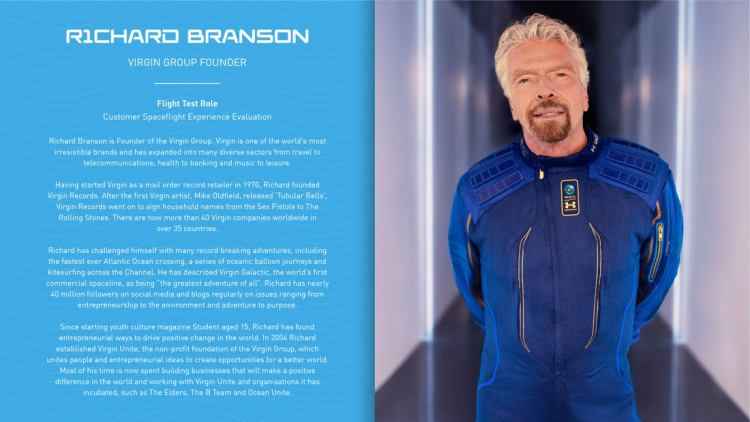 Billionaire Richard Branson made his first step in Space with Virgin Galactic Unity 22