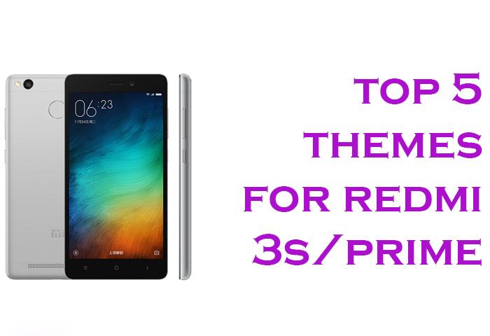 Top 5 Best MIUI 8 Themes for Xiaomi Redmi 3S/Prime – 2017