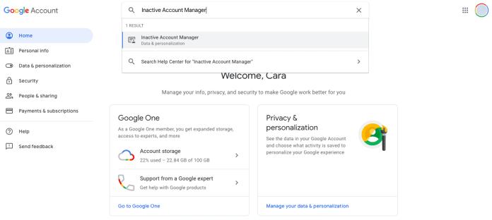 hapus otomatis akun google