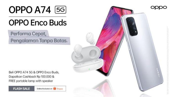 A74 5G dan Enco Buds