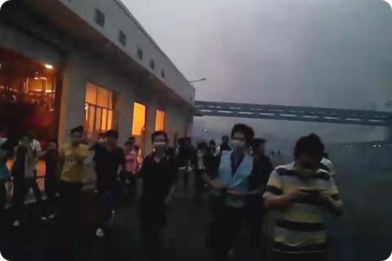 #Foxconn Evacuar a miles de trabajadores