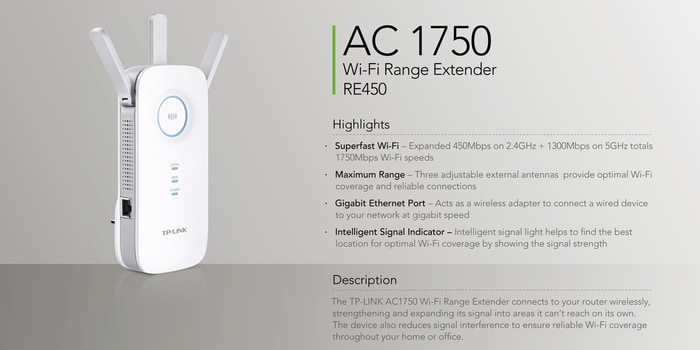 TP Link AC1750 Wifi Range Extender Best Gifts