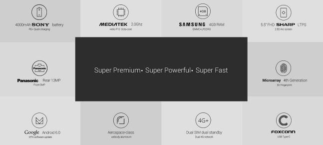 Spesifikasi Umi Super: Smartphone Metal Branded RAM 4GB ds