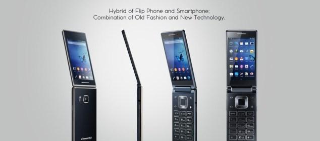 Vkworld T2: Smartphone Lipat dengan Layar Ganda s