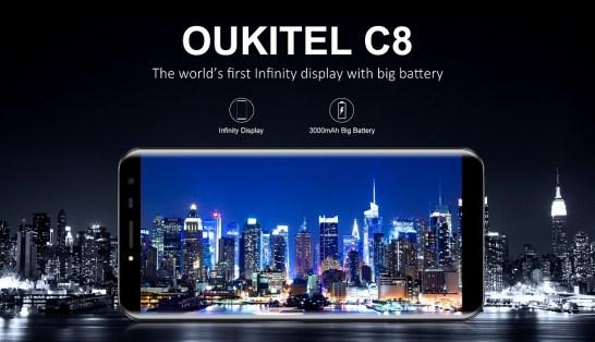 Oukitel C8: Smartphone Rasio 18:9 Harga Murah Dibawah 1 Juta