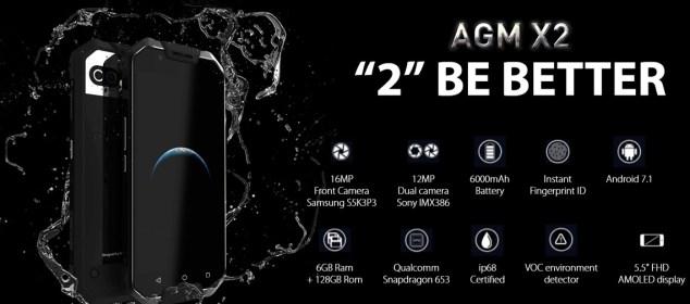 AGM X2: Phablet Rugged RAM 6GB, Snapdragon 653, Baterai 6000 mAh 1