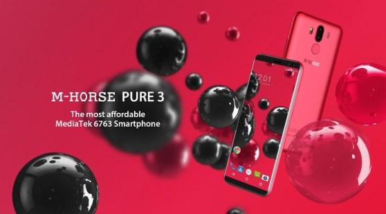M-Horse Pure 3: Phablet RAM 4GB Termurah dengan 4 Kamera dan Helio P23 1