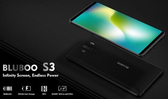 """Bluboo S3 resmi dirilis: Layar 6"""" FHD, NFC dan Baterai 8500 mAh 3"""
