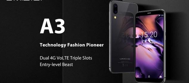 Umidigi A3 dirilis dengan Dual 4G On, Bodi Kaca dan Triple Slot 3
