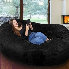 Xl Bean Bag Chair Outdoor Cushions With Ties Comfort Research 6-foot Fuf In Suede » Gadget Flow