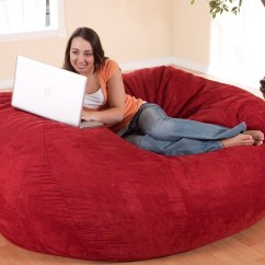 6 Foot Bean Bag Chair Swivel Van Comfort Research Xl Fuf In Suede  Gadget Flow