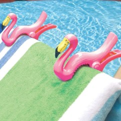 Lounge Chair Towel Clips Bedroom With Wheels Flamingo  Gadget Flow