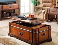 Steamer Trunk Coffee Lift Top Table  Gadget Flow