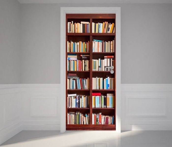 Door Wall Sticker Bookshelf Gadget Flow
