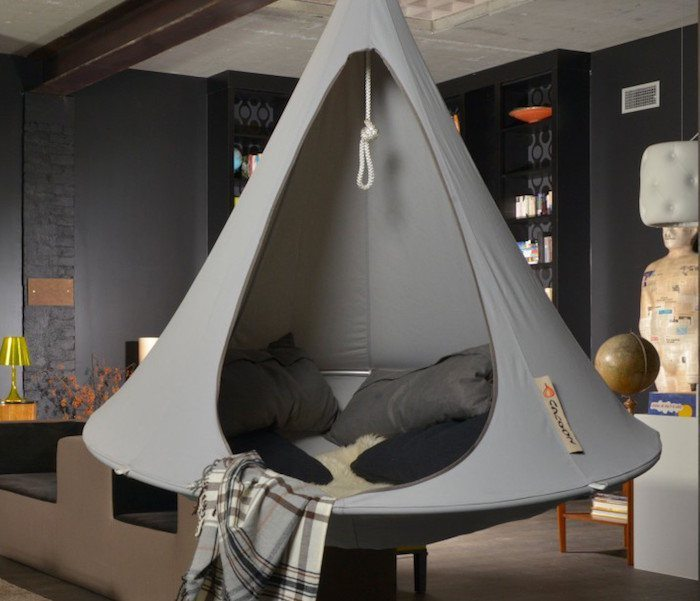 Grey Double Hanging Cacoon  Gadget Flow