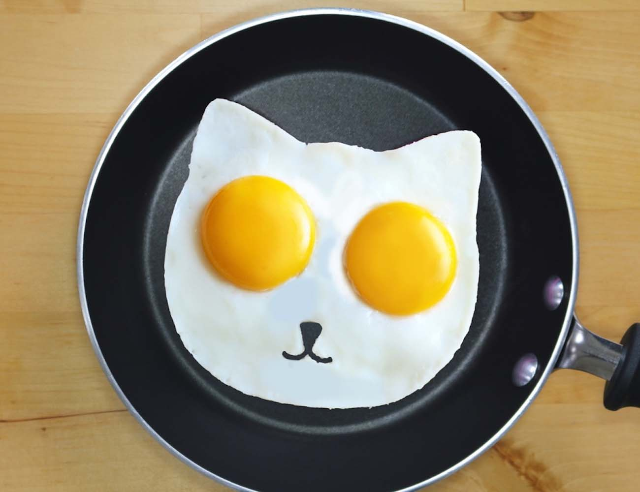 Sunny Side Up Eggs  Cat Egg Mold  Gadget Flow