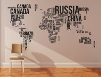 World Map Wall Stickers  Gadget Flow