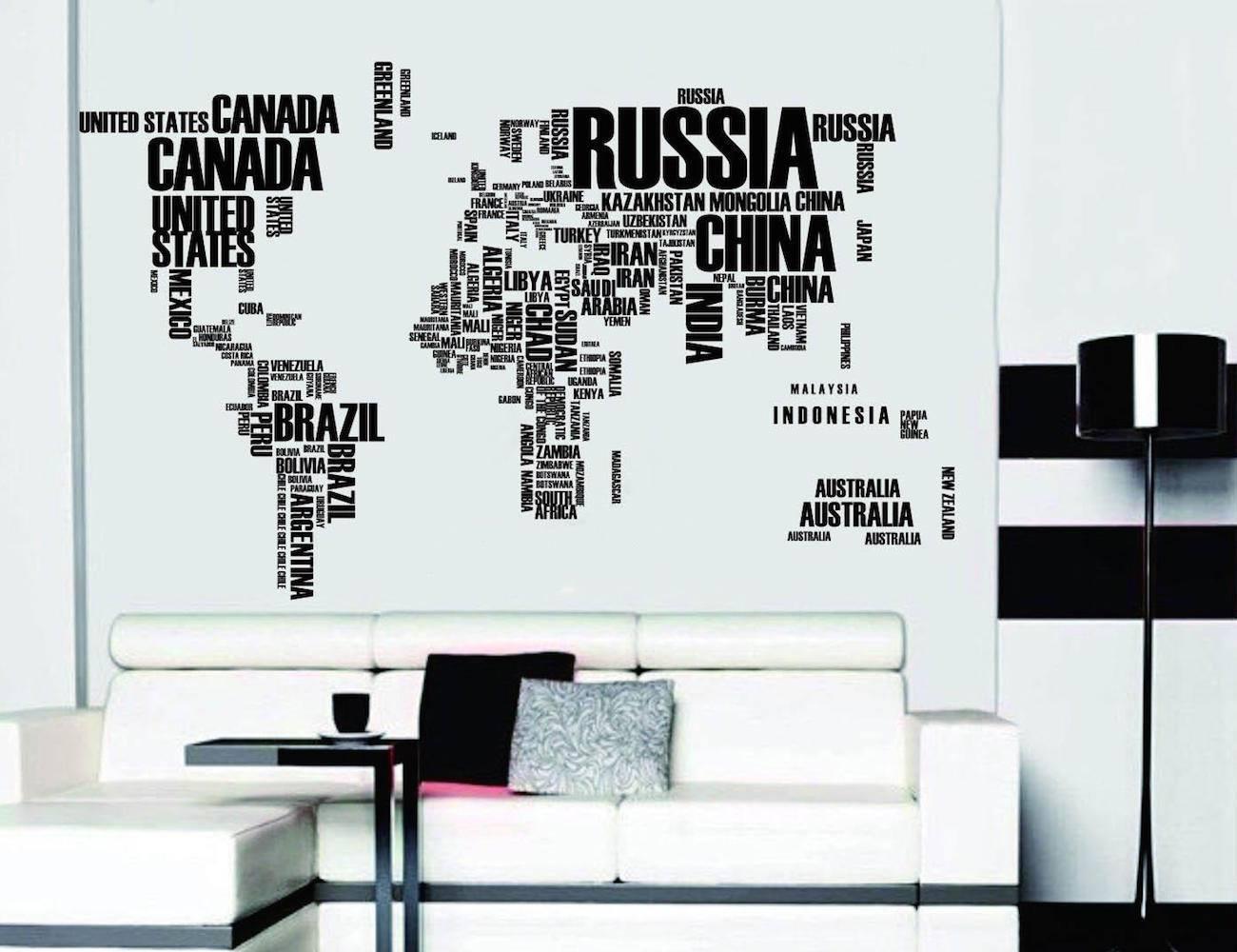 World Map Wall Stickers  Gadget Flow