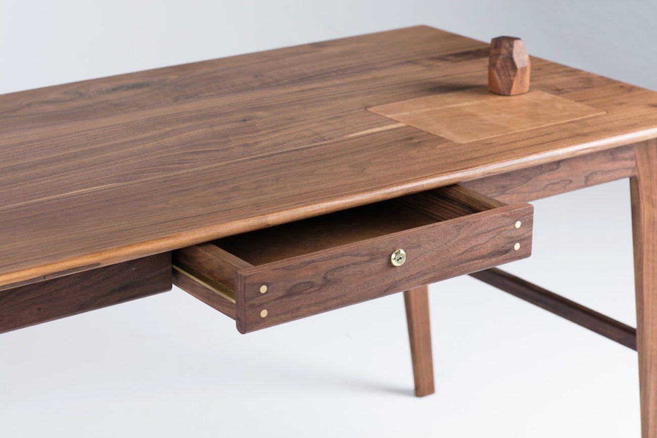 Wolf Lockable Wood Desk  Gadget Flow