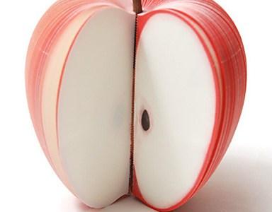 Notizblock Apfel Vorschau
