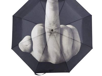 Mittelfinger Regenschirm Vorschau