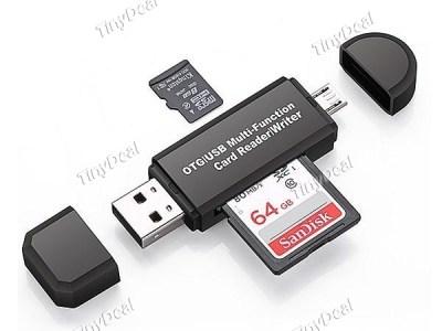 Speicherkartenleser für USB + Micro USB Vorschau