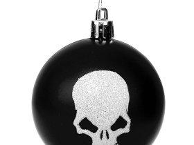 Weihnachtskugel Totenkopf Vorschau