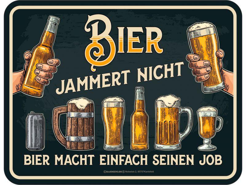 Bier jammert nicht Schild Vorschau