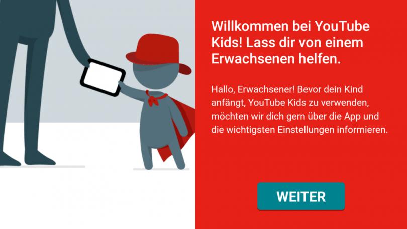 YouTube Kids - Willkommen