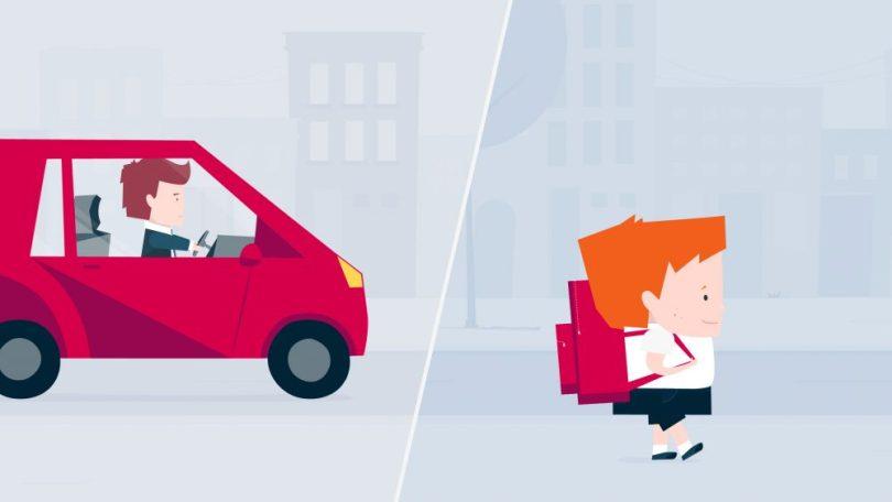 schutzranzen - auto schüler