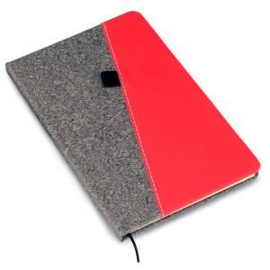 Gray PU combi A5 notebook (Slash design)