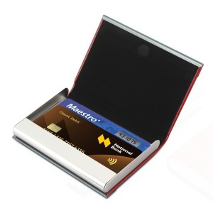 Double plate card holder
