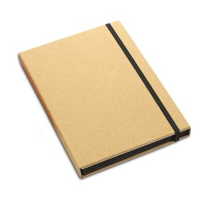 3 fold notebook with wooden stationary set