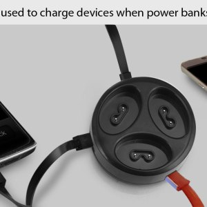 Family Power Bank With Dual Usb Ports (Set Of 3) (9,000 Mah Total)