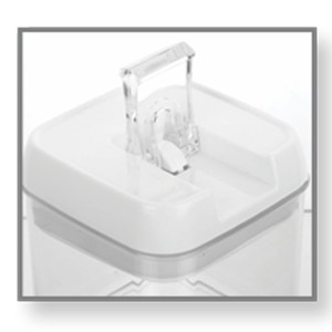 Crystal Air-tight Container with Easy Lock Lid (1200 ml) by Power Plus