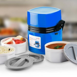 Mega-Steam 3 Container: Power Plus Mega Lunch Box (Microwaveable)- 3 Box