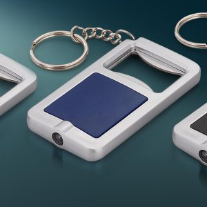 Tri-Chain: 3 In 1 Key Chain With Opener And Torch (Rectangle)