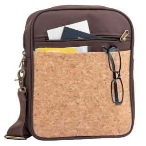 Eco-Friendly Cork Sling Messenger Bag with 2 tone finish